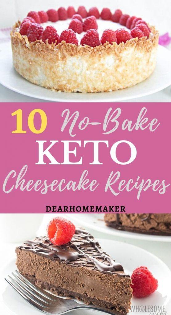 10 No-bake sugar-free Keto Cheesecake Recipes