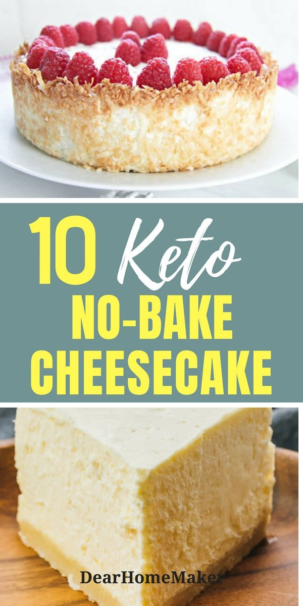 Easy Sugar-free No-bake Cheesecake