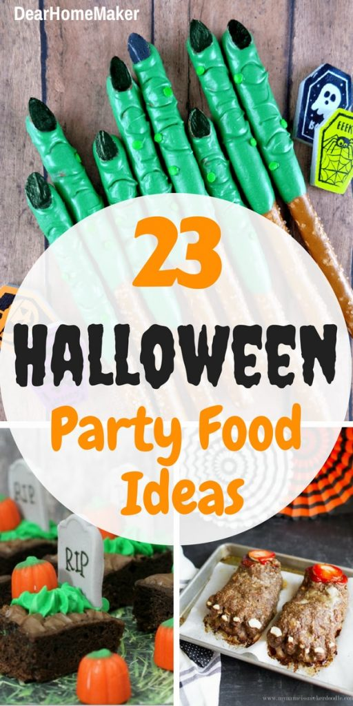 23 easy and scary halloween party food ideas