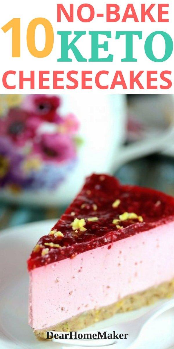 Easy Sugar-free No-bake Cheesecake