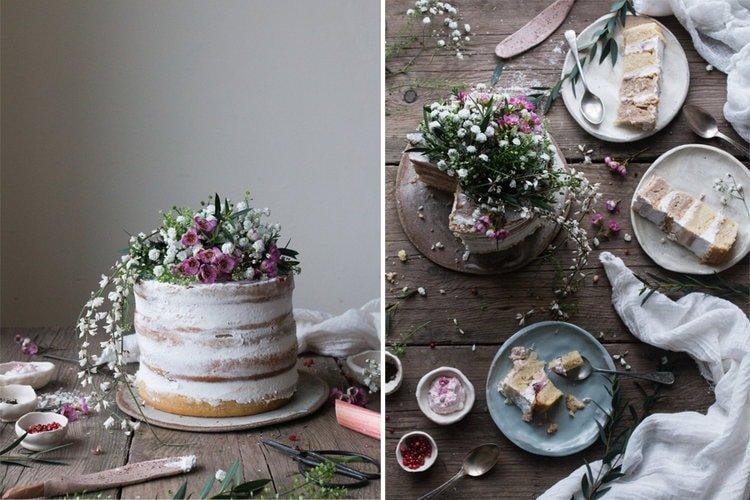 vegan-rhubarb-layer-cake