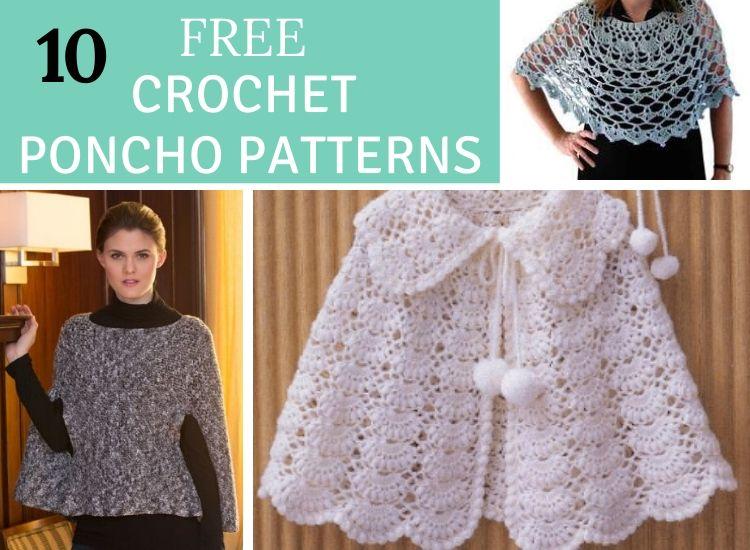 10 free crochet poncho