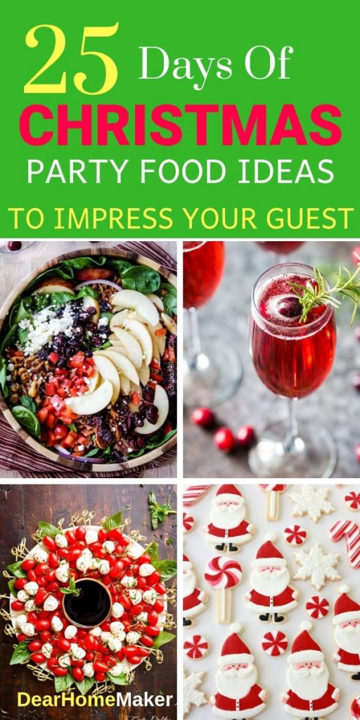 25 christmas party food ideas