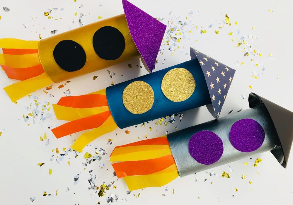 Toilet paper roll rockets