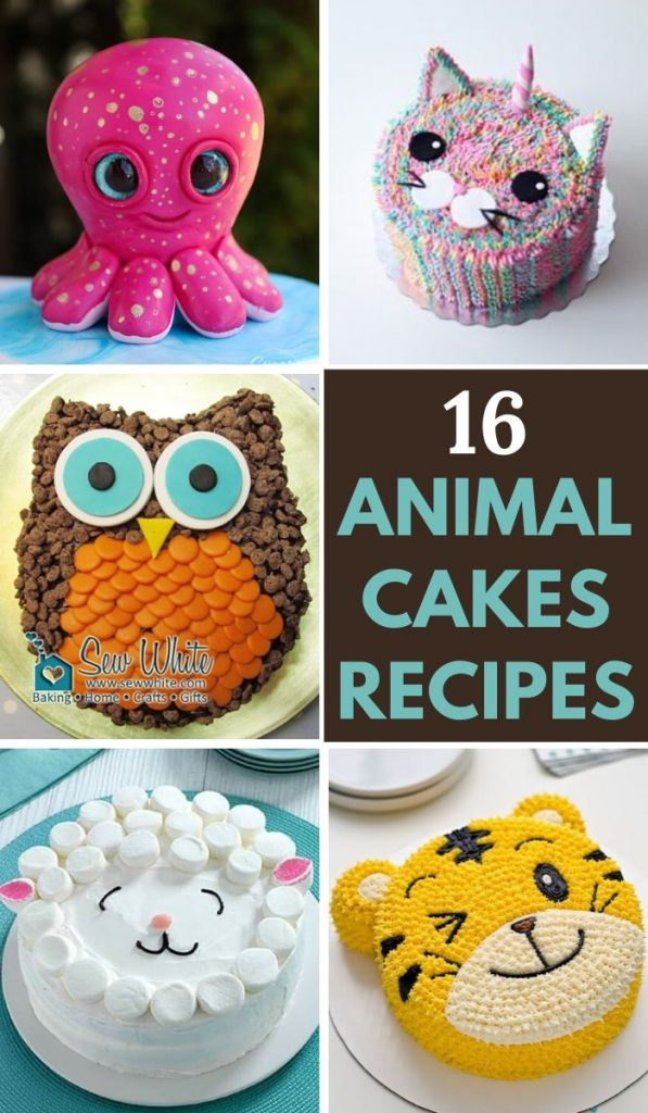 16 Easy and Cool Animal Cake Recipes