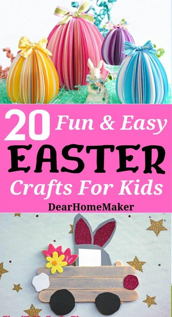 20 Fun Easter Crafts For Kids Dear Home Maker