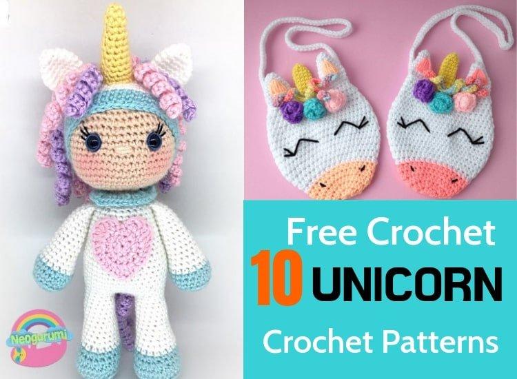 Mermaid Unicorn Mermicorn Hippocampus Crochet Amigurumi | Etsy | 550x750