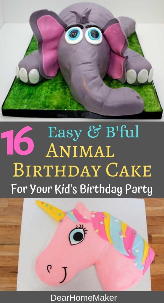 Fantastic 16 Best Animal Birthday Cake Designs For Kids Party Dear Home Maker Personalised Birthday Cards Paralily Jamesorg