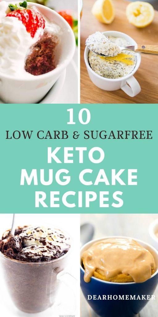 10 keto mug cake recipes for weight loss