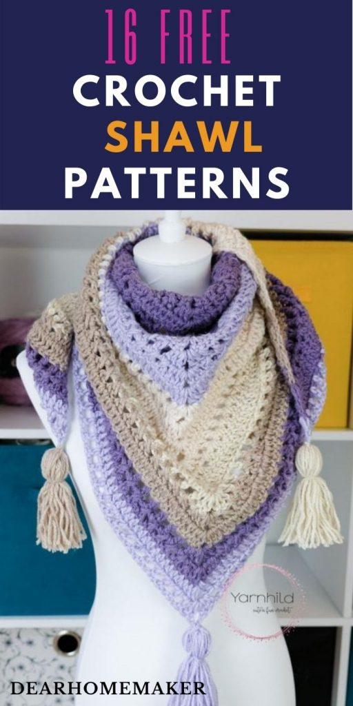 16 FREE Crochet shawls Patterns