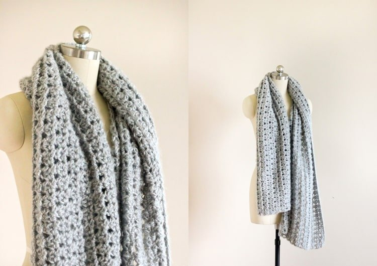 triangle-stitch shawl
