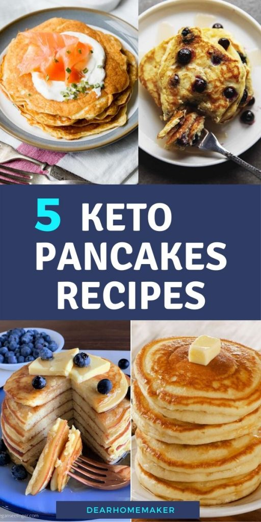 5 Low-Carb Keto Pancake recipes for weight loss. #keto #ketodiet #ketogenic #pancake #breakfast #weightloss