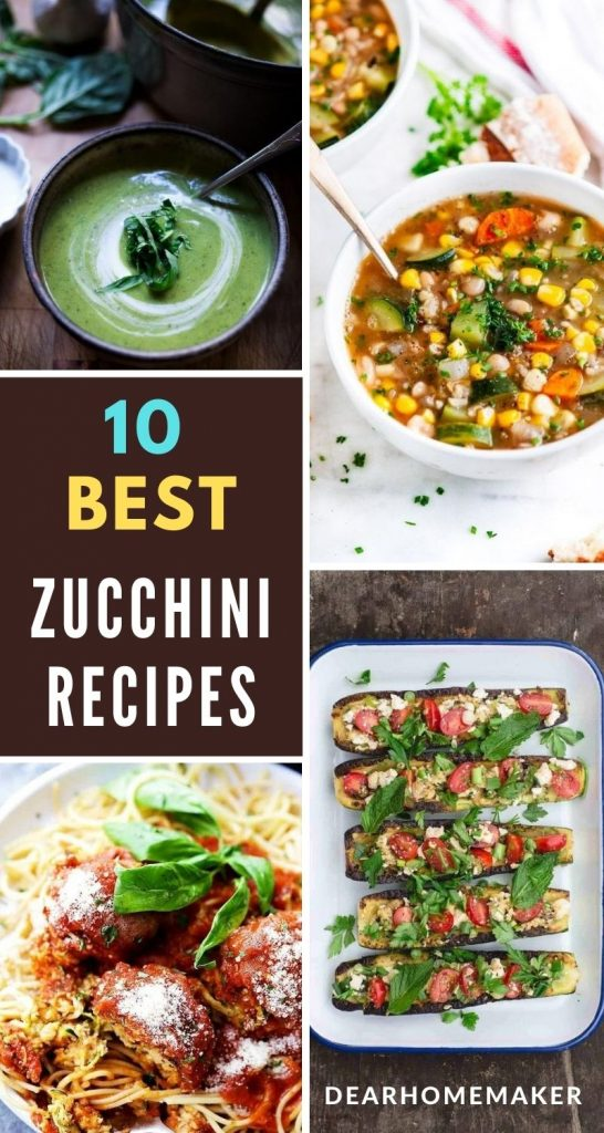 10 Delicious and tasty Zucchini Dinner Recipes