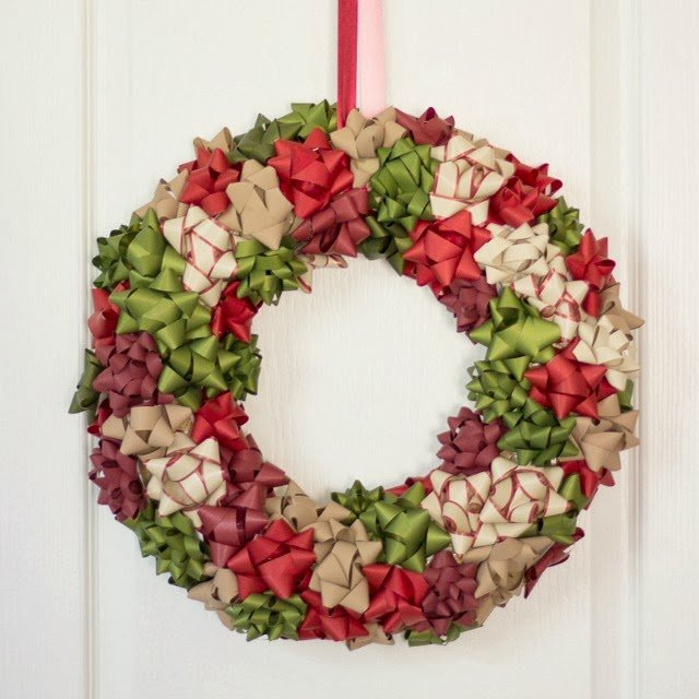 DIY Bow Christmas Wreath