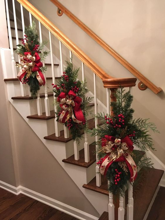 Christmas Stairs decor