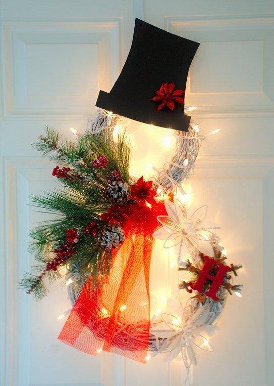 DIY Snowman Christmas werath