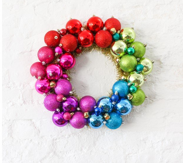 Colorful Discoball wreath