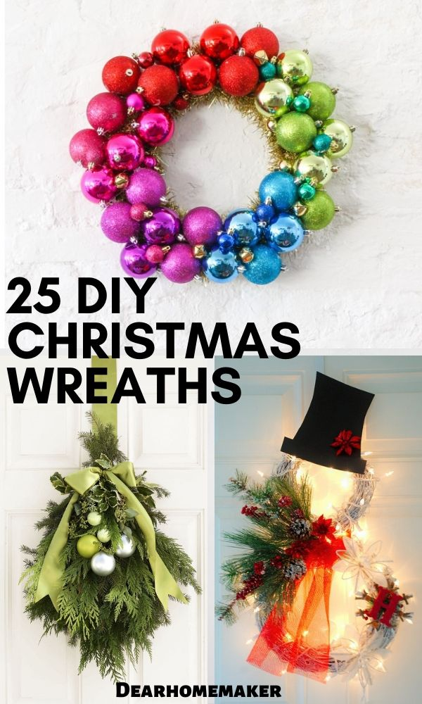 25 DIY Christmas Wreath Ideas