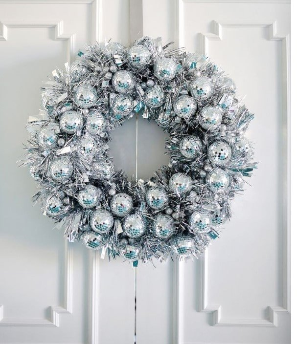 Discoball Christmas wreath