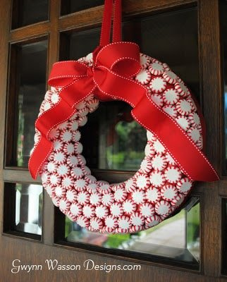 Peppermint Christmas Wreath