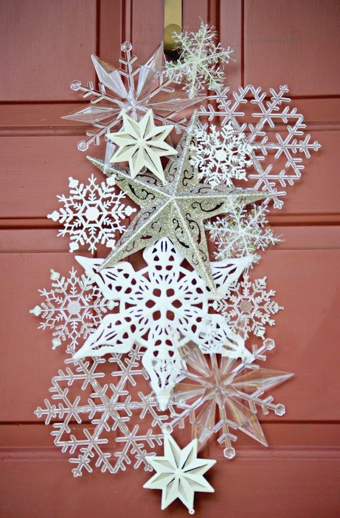 Snowflakes Christmas Wreath