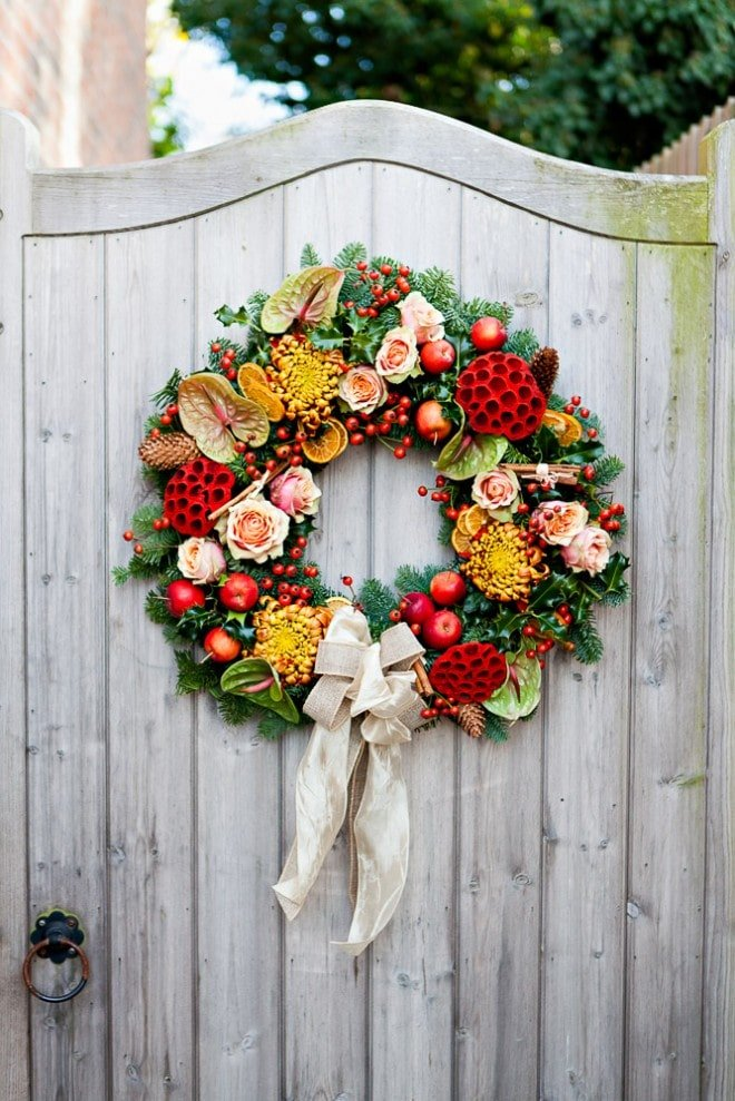 Floral Christmas Wreath
