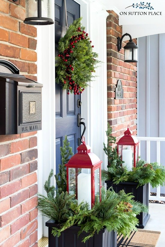 Christmas Porch decoration idea