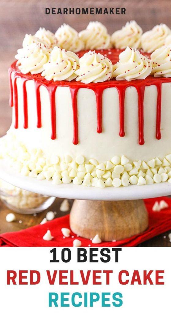 Mouthwatering Red velvet cake recipes