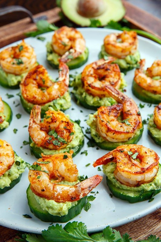 Blackened Shrimp Cucumber Bites