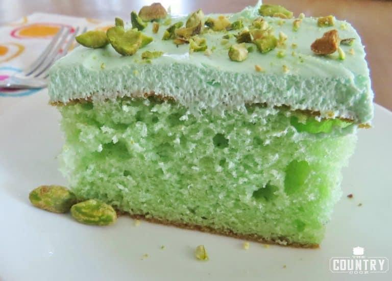 Pistachio Poke Cake