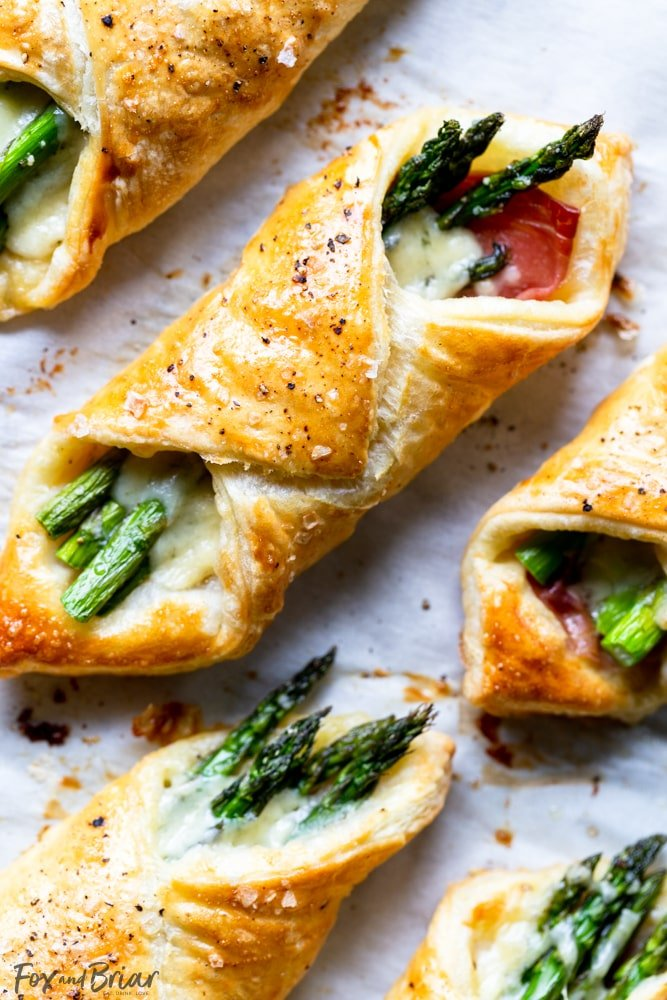 Puff-Pastry-Asparagus appetizer