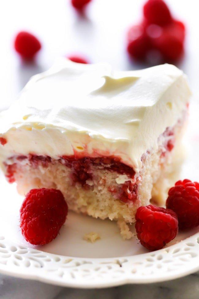 Raspberry-Poke-Cake