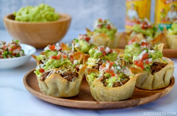 taco salad cups appetizer
