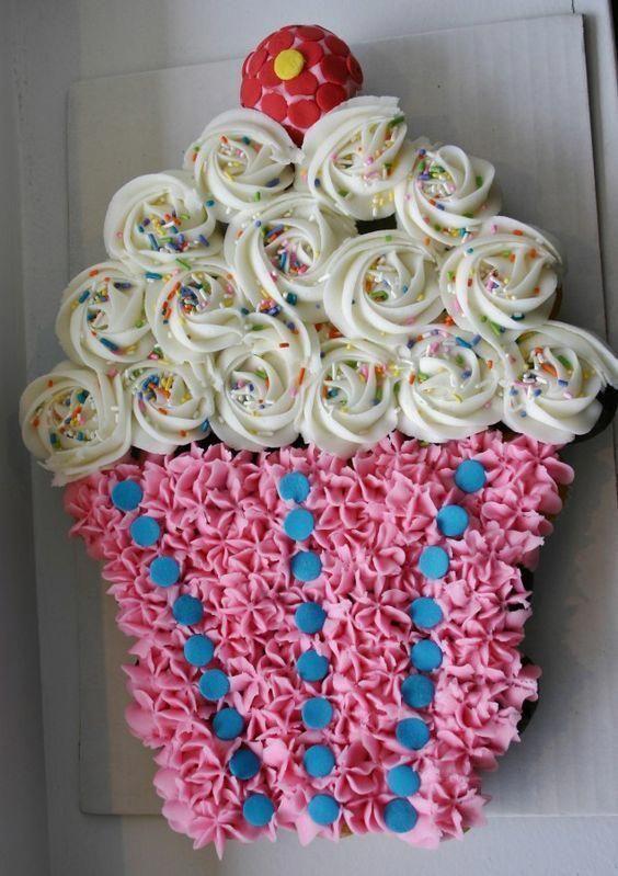 Big Cone pull apart cupcake cake