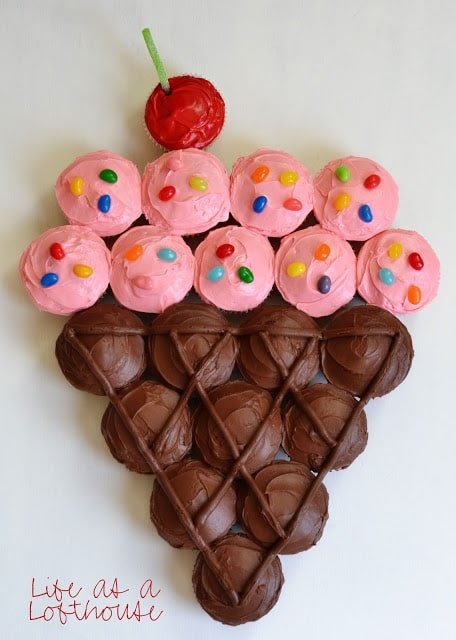 Ice cream cupcake cake