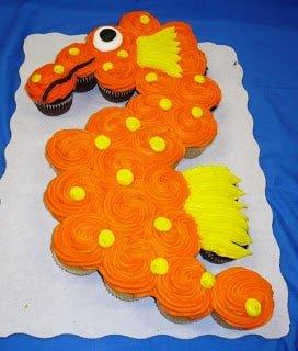 Seahorse Cupcake cake