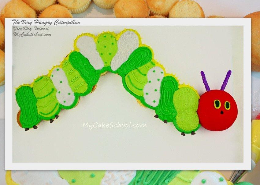 Caterpillar Pull apart Cupcake Cake
