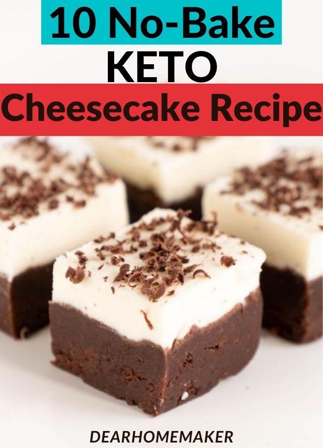 10 Easy no-bake sugarfree KETO Cheesecake Recipes.