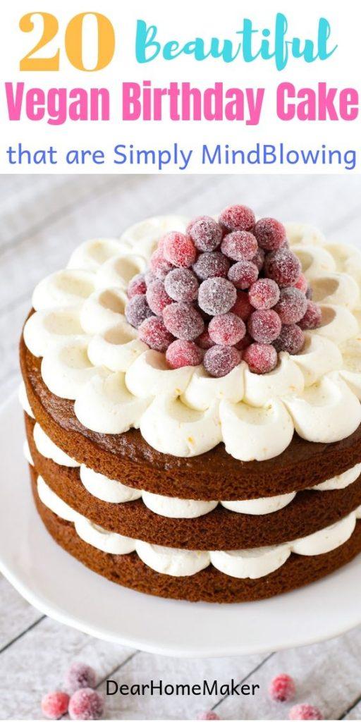 20 Mouthwatering Vegan Cakes