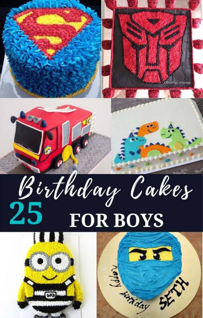 25 Cool birthday cakes for boys