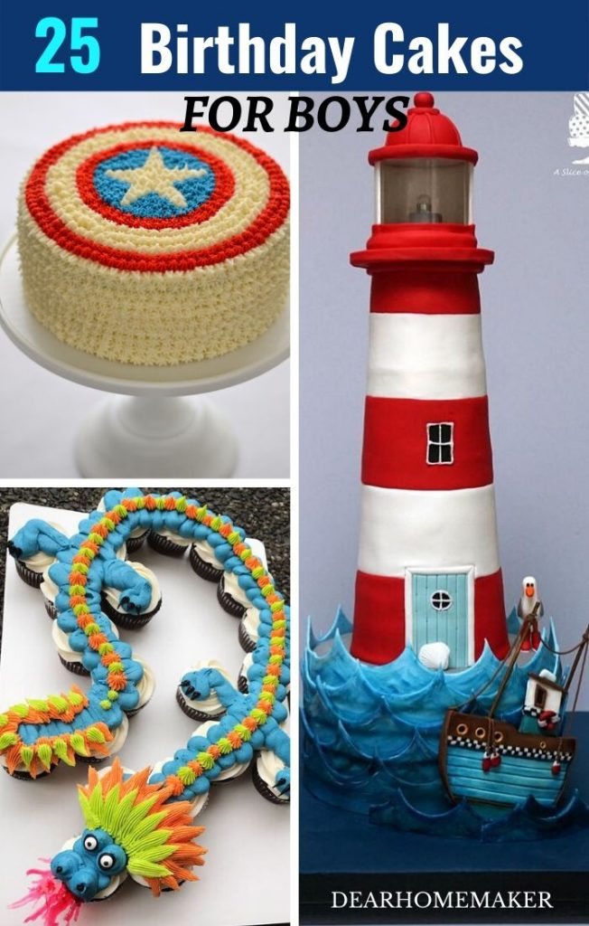 25 Best birthday cakes for boys that are super cool. #cake #birthdaycake #birthdaycakeforboys #cakerecipes.