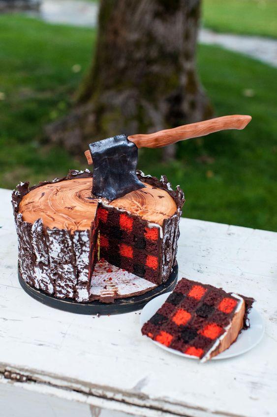 Lumberjack Fathers day Cake