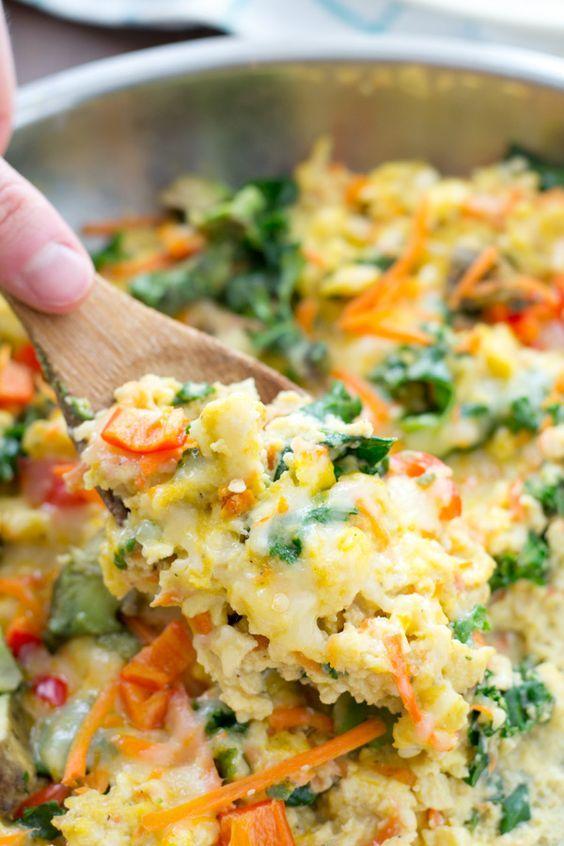 Rainbow veggie egg