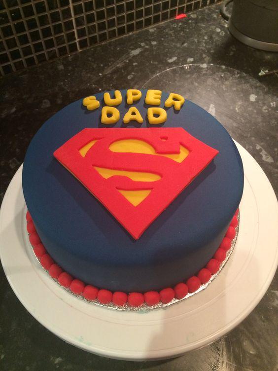 Superdad cake