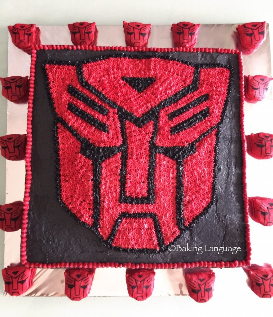 Transformer Birthday cake for boys