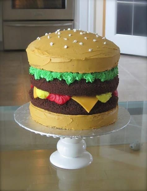 burger cake for fathers day