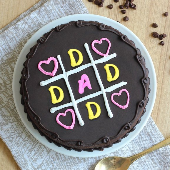Tic-Tac Fathers Day Cake