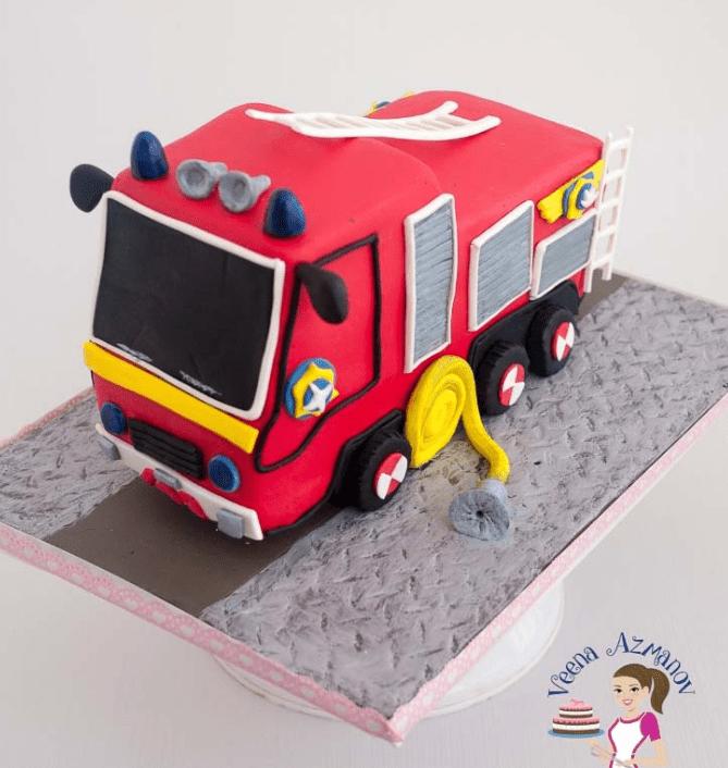 Firetruck Birthday Cake. #cake #birthday #birthdaycakeforboys