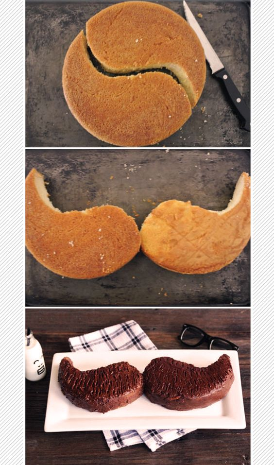Easy moustach cake for dad