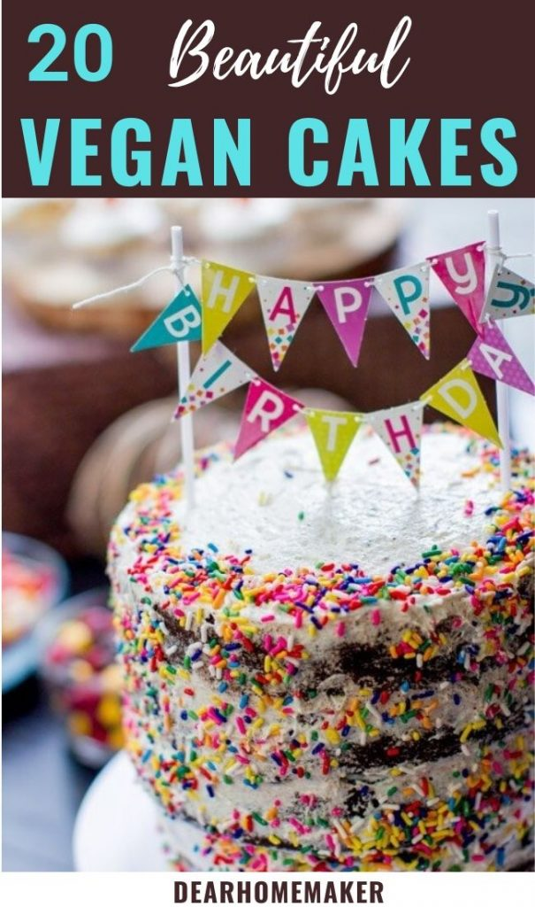 Funfetti vegan birthday cake